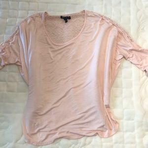 Long sleeve lace back top